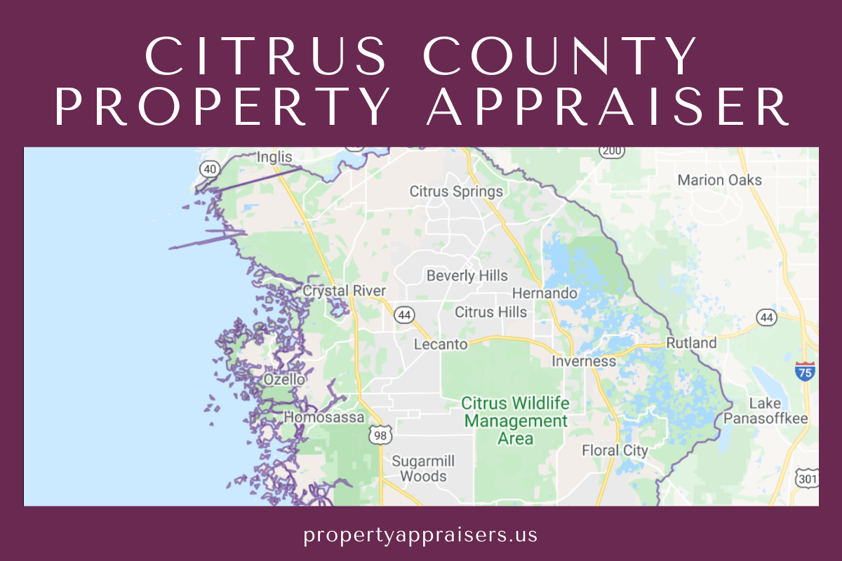 citrus county property appraiser map location