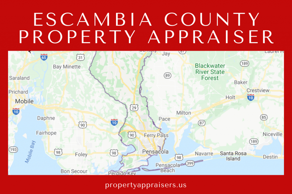 escambia county property appraiser map location