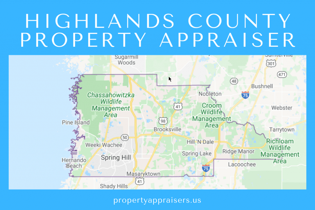 highlands county property appraiser map location