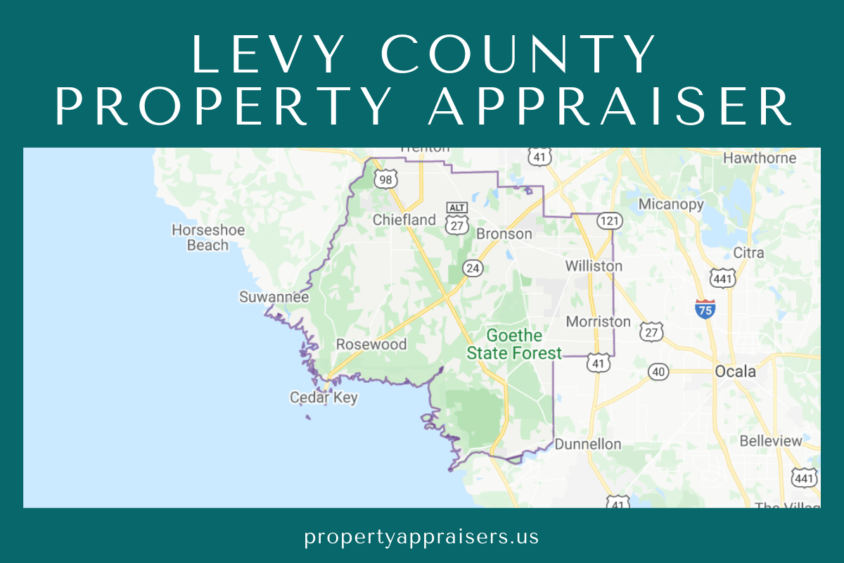 levy county property appraiser map location