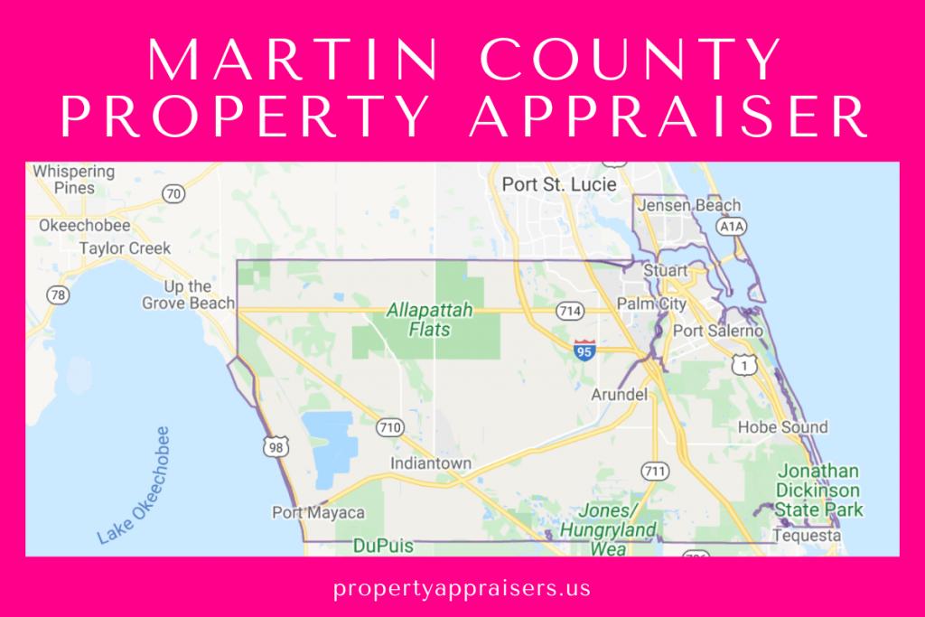 martin county pA map location