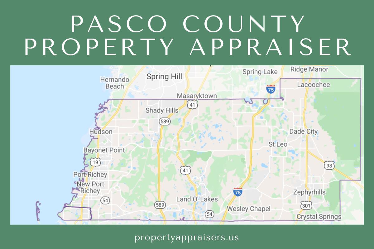 pasco county pA map location