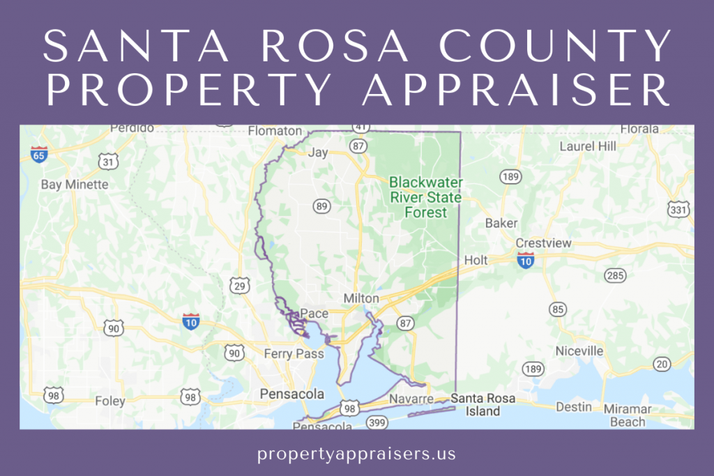 santa rosa county property appraiser map location