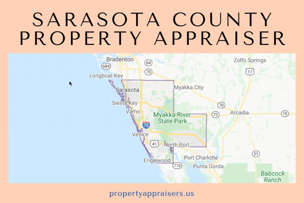 sarasota county pA map location