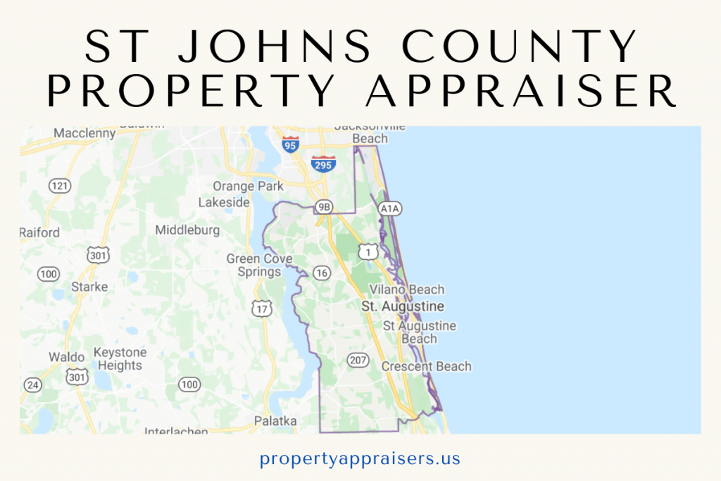 St Johns County PA map location