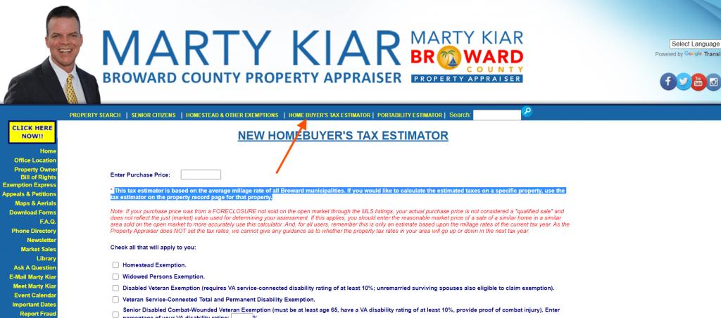 broward county property appraiser menu3