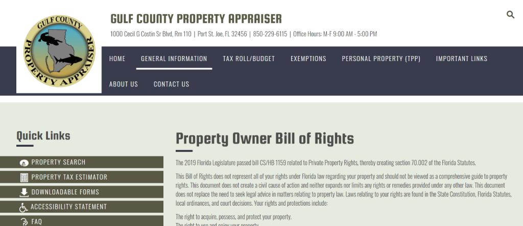 gulf county property appraiser2